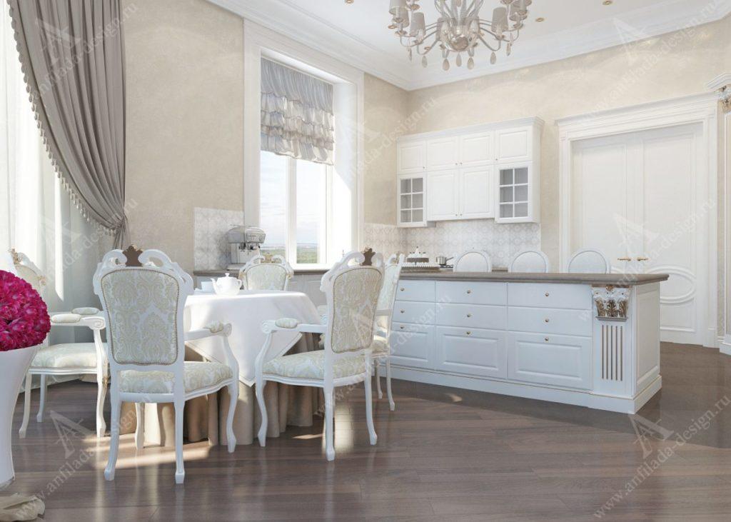 Классический дом кухня