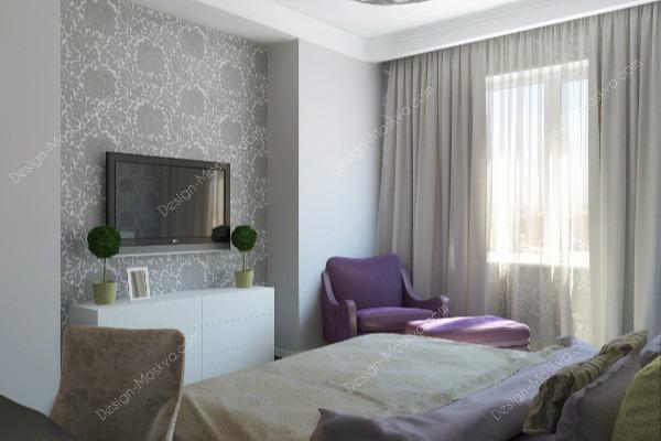 Дизайн проект Квартиры. Спальня