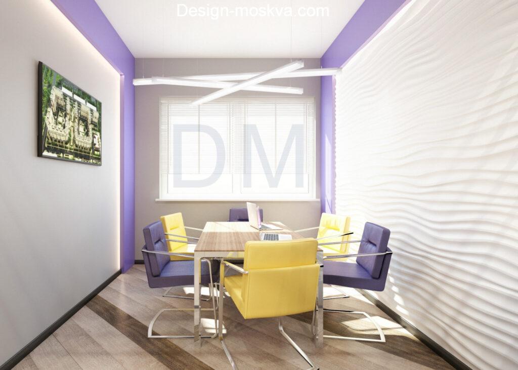 Дизайн проект офиса. Переговорная
