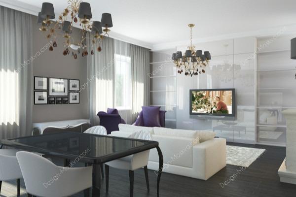 Дизайн проект квартиры. Гостиная