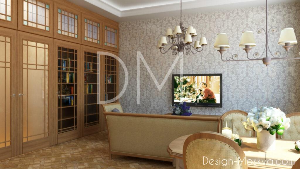 Дизайн проект квартиры. Кухня-Гостиная.