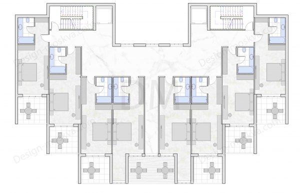 Проект гостиницы 2 этаж