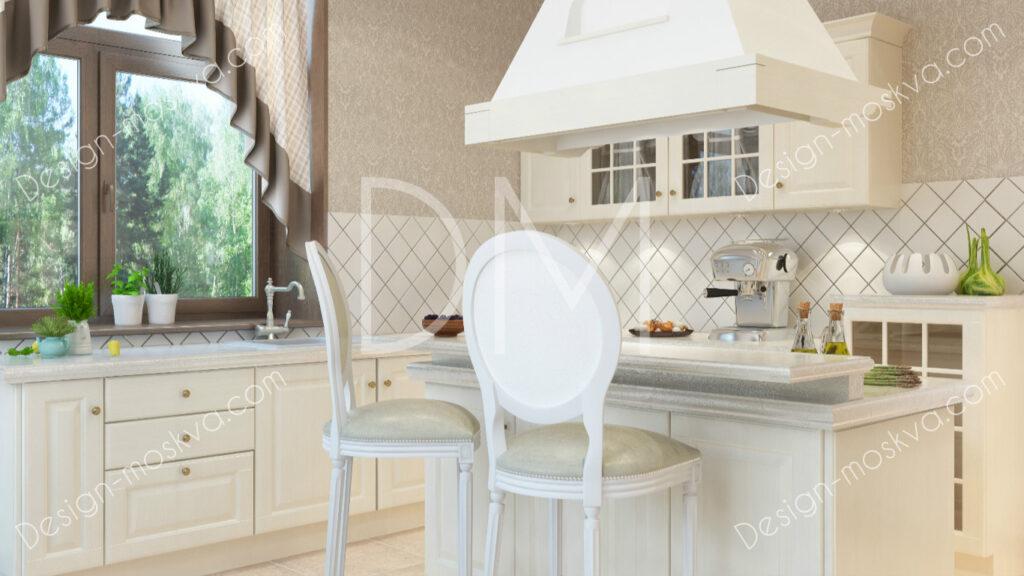 Дизайн проект Коттеджа. Кухни.