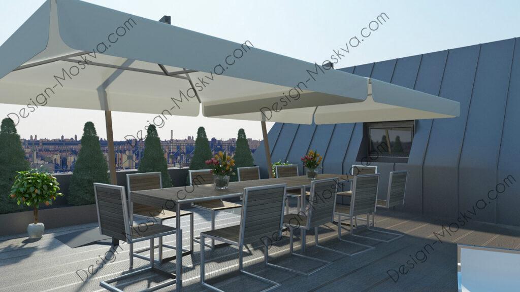 Дизайн крыши. ресторан 10