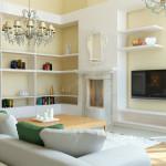 Дизайн проект загородного дома в классическом стиле . Гостиная Вар3