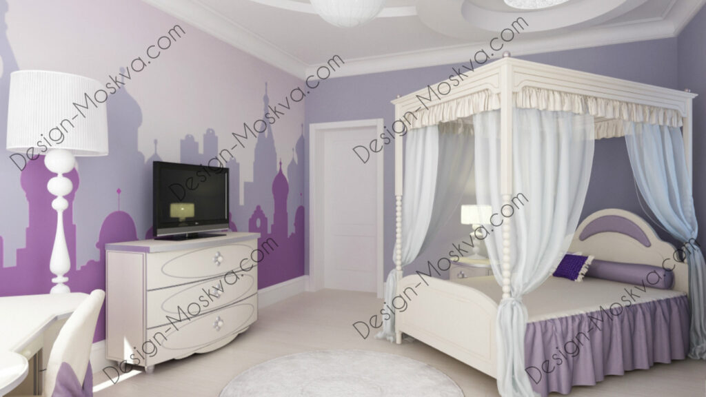 Дизайн проект квартиры. Детская комната.