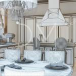 Дизайн проект Коттеджа. Кухня