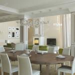 Дизайн проект загородного дома в классическом стиле . Кухня-Гостиная Вар1