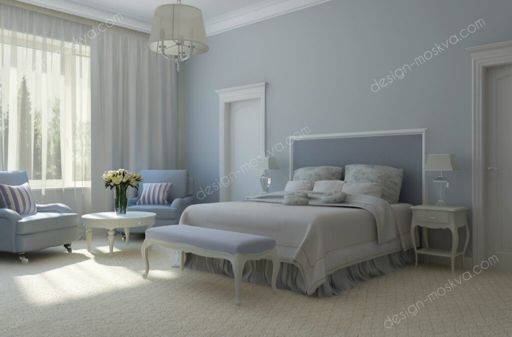 Дизайн проект квартиры. Спальня 13