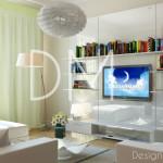 Дизайн проект квартиры. Современная Гостиная