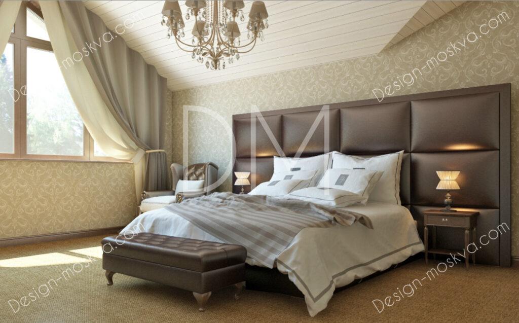 Дизайн проект Коттеджа. Спальня.
