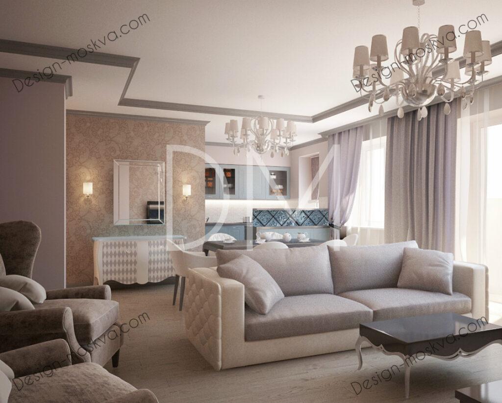 Дизайн проект Гостиной. Квартира