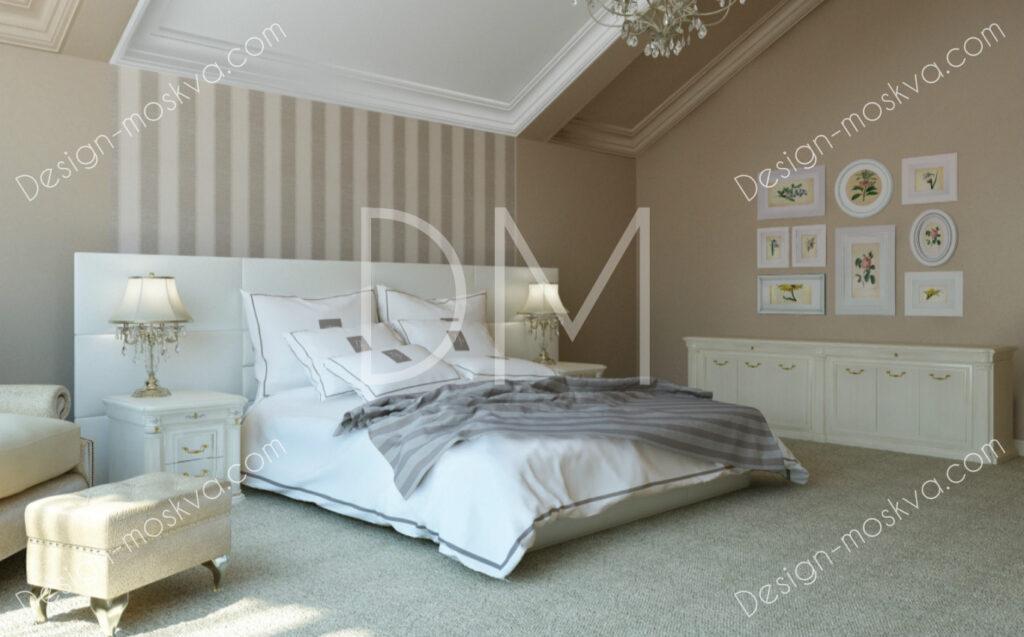 Дизайн проект загородного дома. Спальня