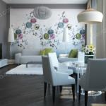 Дизайн проект квартиры. Гостиная. Вариант 1