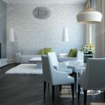 Дизайн проект квартиры. Гостиная Вариант 2