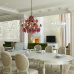 Дизайн проект загородного дома в классическом стиле . Кухня-Гостиная Вар2