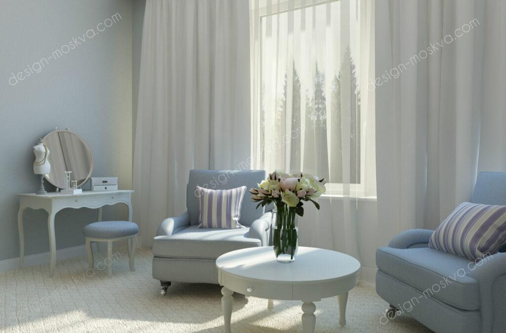 Дизайн проект квартиры. Спальня 10