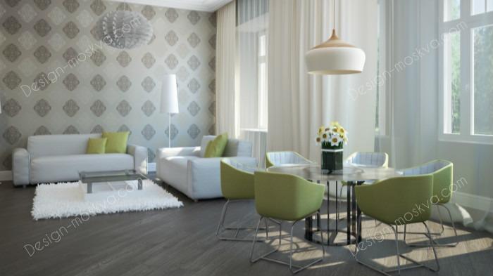Дизайн проект квартиры. Гостиная. Вариант 3