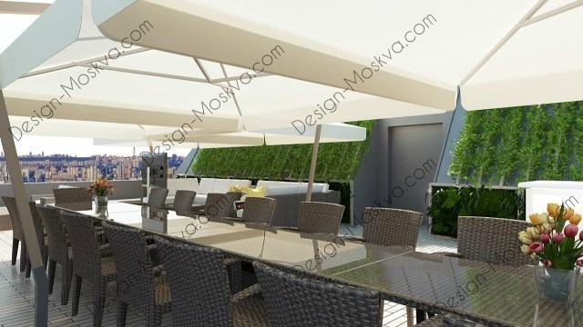 Дизайн проект крыши. Ресторан1
