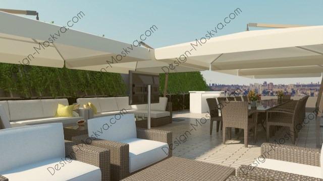 Дизайн проект крыши. Ресторан 4