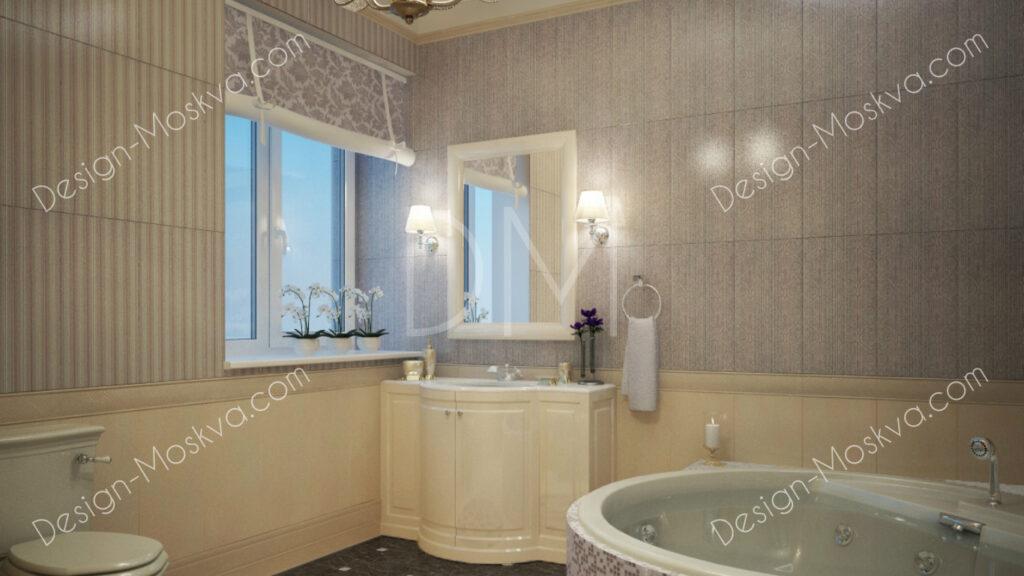 Дизайн проект квартиры. Ванная комната