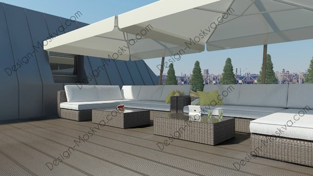 Дизайн проект крыши. Ресторан 6