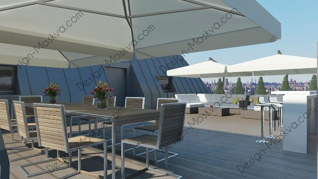 Дизайн проект крыши. Ресторан 7