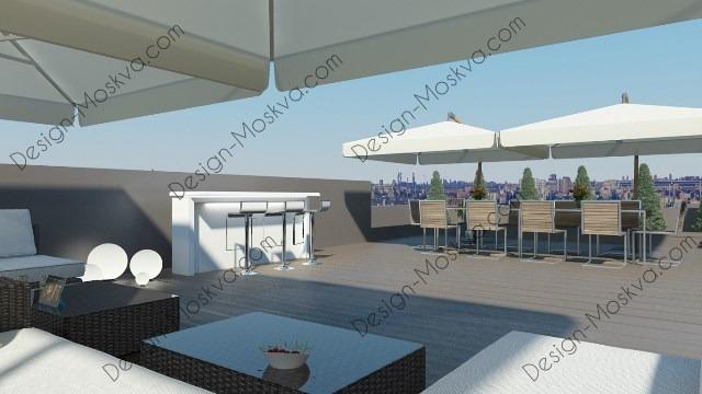 Дизайн проект крыши. Ресторан 8