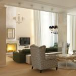 Дизайн проект загородного дома в классическом стиле . Гостиная Вар4