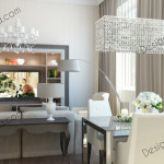 Дизайн проект кухни-гостиной. Квартира