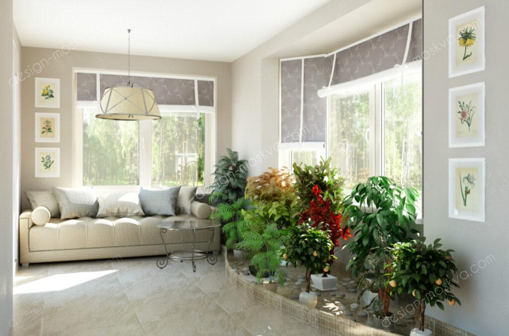 Дизайн проект Загородного дома. Зимний Сад