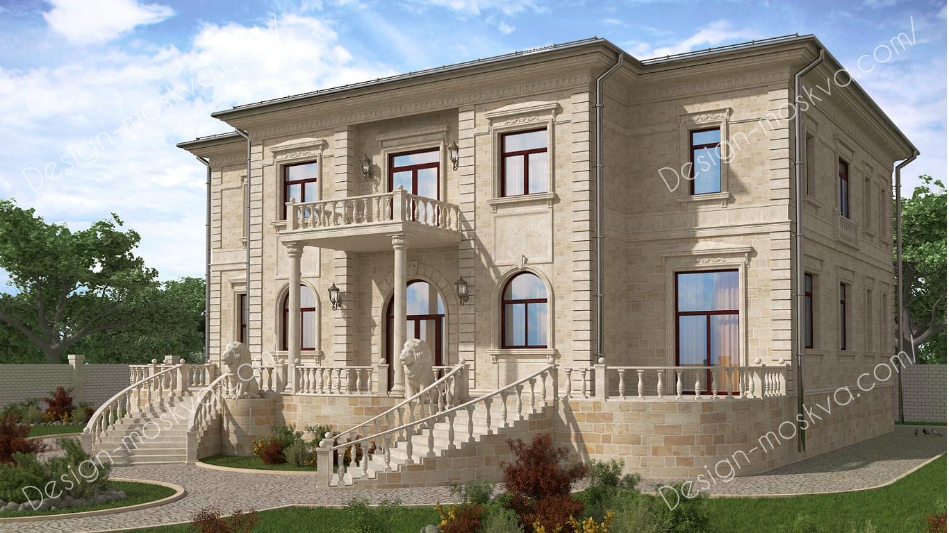 Проектирование домов с отделкой из камня